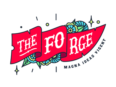 The Forge - Magna Ideas Vigent pirate design logo collection grotesque brand latin flowers flag logo
