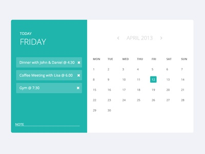 appointment calendar by theme bucket dribbble. Black Bedroom Furniture Sets. Home Design Ideas