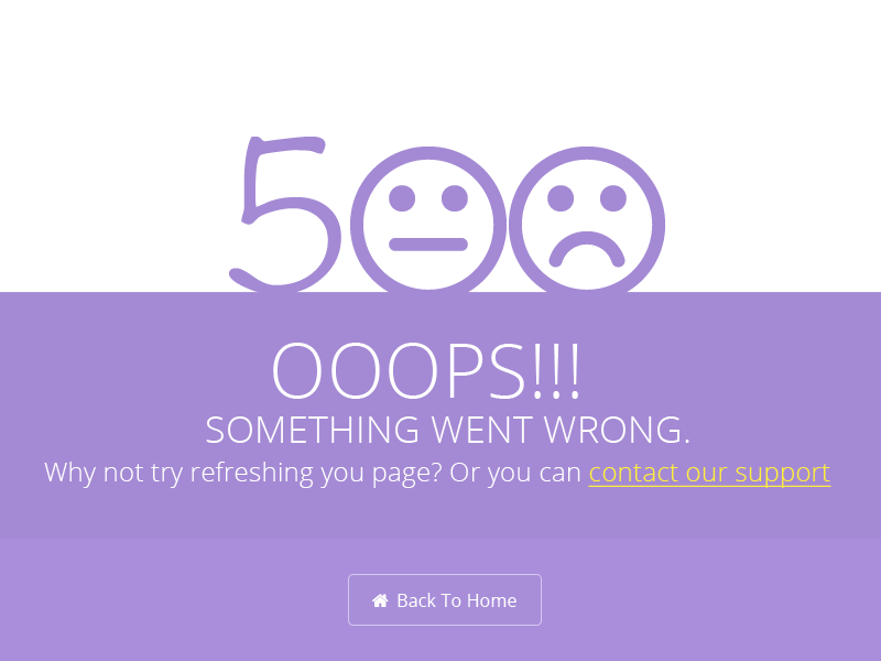 Bucket Admin 500 Error Page by Theme Bucket - Dribbble