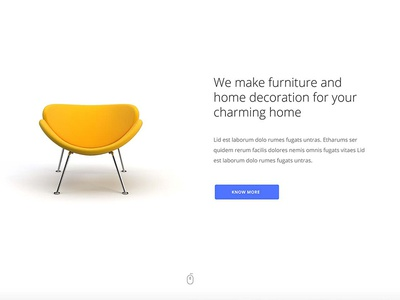 Alien Furniture web design multipurpose interior portfolio unique modern html template alien logo design