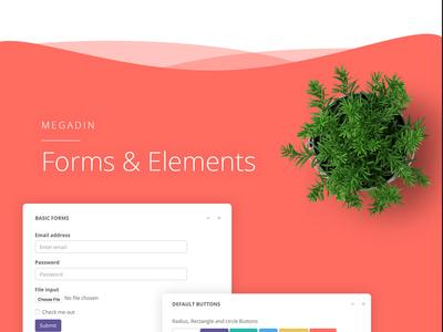 Megadin Form & elements application ui component graph element form backend user interface ui admin dashboard