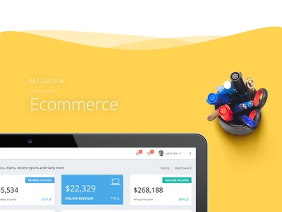 Megadin Ecommerce application ui component graph element form backend user interface ui admin dashboard