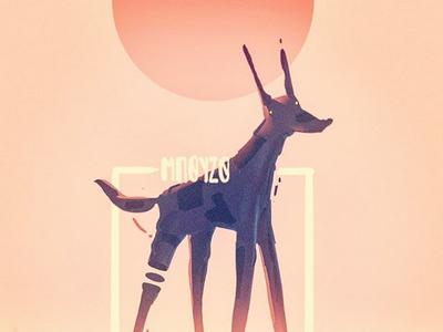 Doggo digital illustration dog design illustration