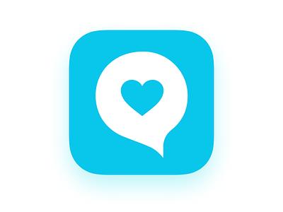 Mental Health Chat App logo mental health anxiety app chat logo