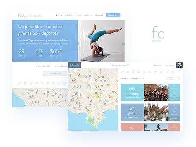 Fitclub Webapp fitness search app web landing sports