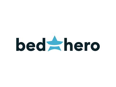 Bedhero logotype font star management hostel hotel logo bedhero