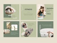 Motion - Instagram template yoga sports fitness creative post-design social media post-instagram instagram template instagram template design