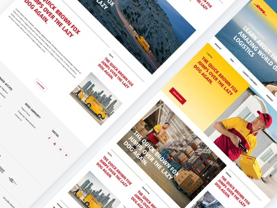 DHL Global Relaunch (Smart Grid) ui grid news blog dhl website