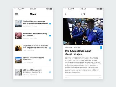 UBS – App Redesign (News) news ui iphone app ios