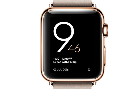 Apple Watch – Alternative Watch Face minimal ui face watch apple