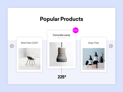 Simple Product-Slider webdesign interior shop minimal ecommerce
