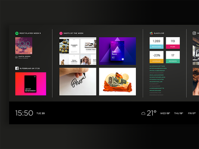 Agency Dashboard ui sidescroll interactive dashboard