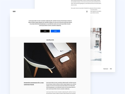 Minimal Blog Template website minimal blog