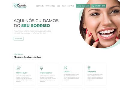 Clinica Sorrir dentista dentist clinic green website minimal web ux design figma ui design site design ui site