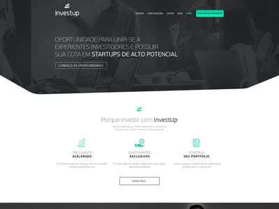 Investup business invest black green corporate ui web website ux ui design site design site minimal figma design