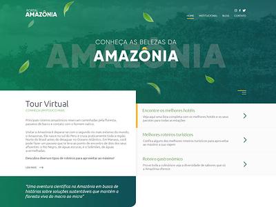 Portal Amazônia nature amazonia jungle green branding minimal site design website web ux ui design site figma design redesign