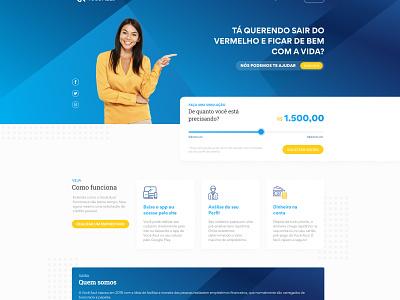 Você Azul webdesign uidesign ux grid site design site blue investimento