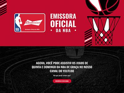 Budweiser NBA site design black red budweiser beer website ux design site