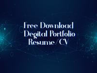 Free Download Digital Portfolio Resume/CV