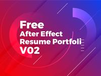 Free Download After Effect Degital Portfolio Resume/CV V02