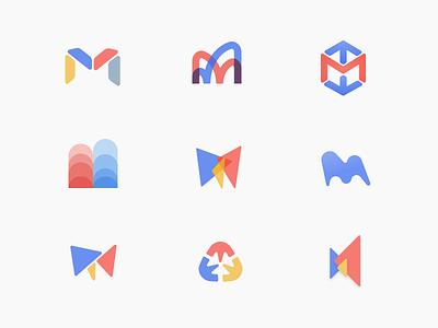 mindular logo storming letter m branding logo