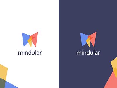 mindular logo lightmode darkmode branding logo
