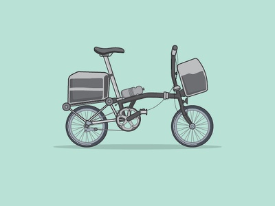 Bike Touring travel hobby lifestyle brompton touring bike