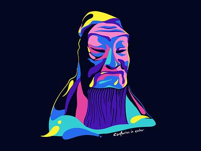 Confucius in color philosophy confucius chinese