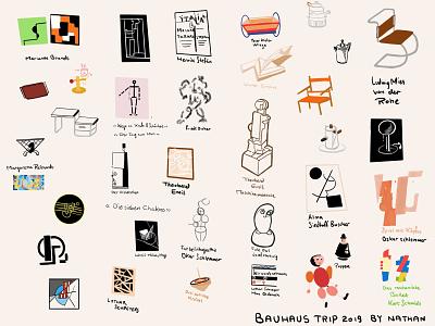 Bauhaus Trip 2019 Sketchnote visualnote sketchnote germany bauhaus bauhaus100