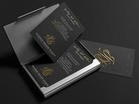 Business Cards - Gold Foil on Black