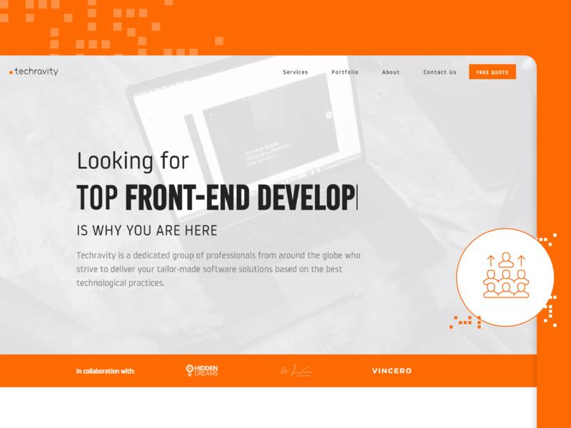 Techravity Website website design admin business art direction branding ui ux website concept webdesign