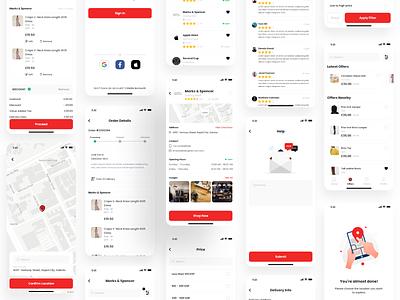 Ecommerce App uiux uidesign uiuxdesigner uiuxdesign mobile app design illustration cart shopping app shopify online shopping delivery market shop commerce ecommerce