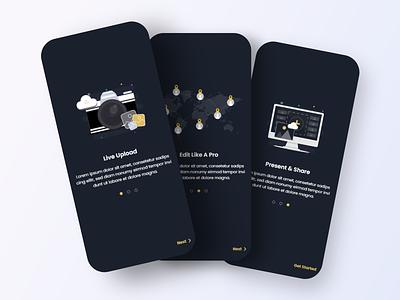 Onboarding Screens illustration design uiuxdesign mobile app design ui  ux graphic design ui mobile ui uiux design uiux uidesign ui de onboarding