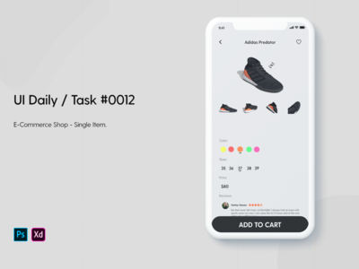 Daily UI / Task #012 - E-commerce Shop