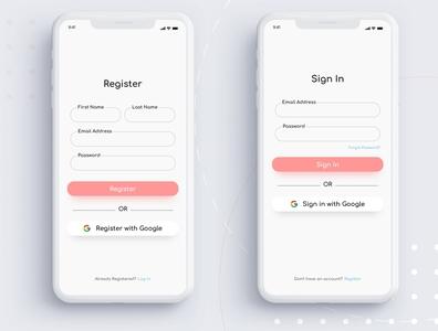 Sign in & Register UI
