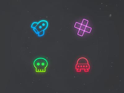 Spirit Characters skull enemy spaceship space html5 ios game