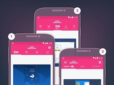 Inbbbox Menu navigation menu material android ui inbbbox dribbble inbox