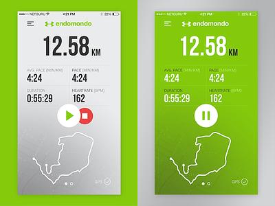 Endomondo Concept app sport mobile redesign endomondo ios