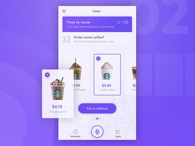 Personal Assistant App - Order Coffee coffee starbucks ios app planner assistant steward siri