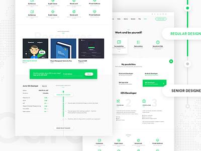 Netguru Redesign - Career Possibilities web design web redesign modern landing page icons flat cta contact career agency