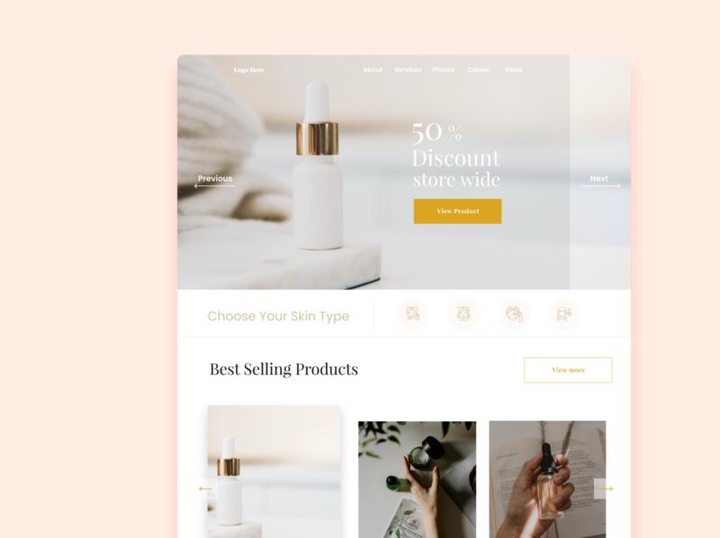 Beauty Sites web uxui website icon webdesign ux ui minimal design