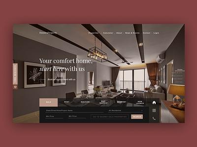 Minimal Luxury Property UI/UX minimal website ui design web ux