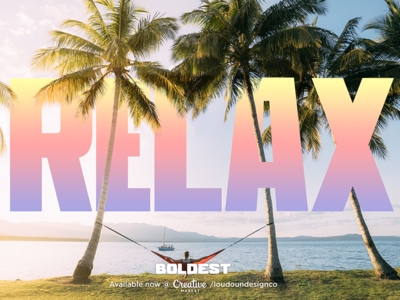 Relax with some BOLDEST bold font bold sans sans typedesign type bold font design typography