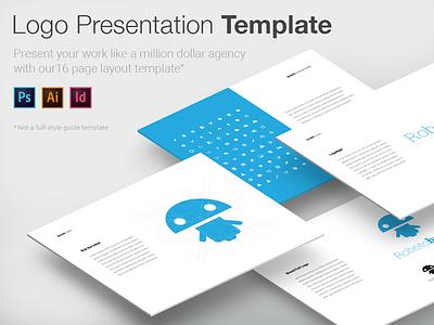 Logo Presentation Template mockup design mockup template design branding logo