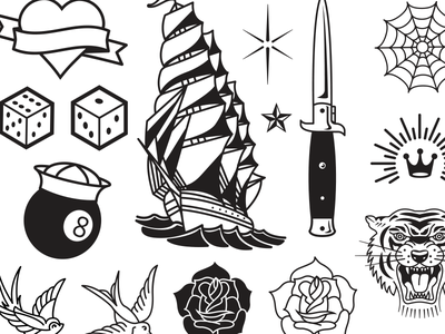 Vector Tattoo Flash tattoo art tattoo illustration vector