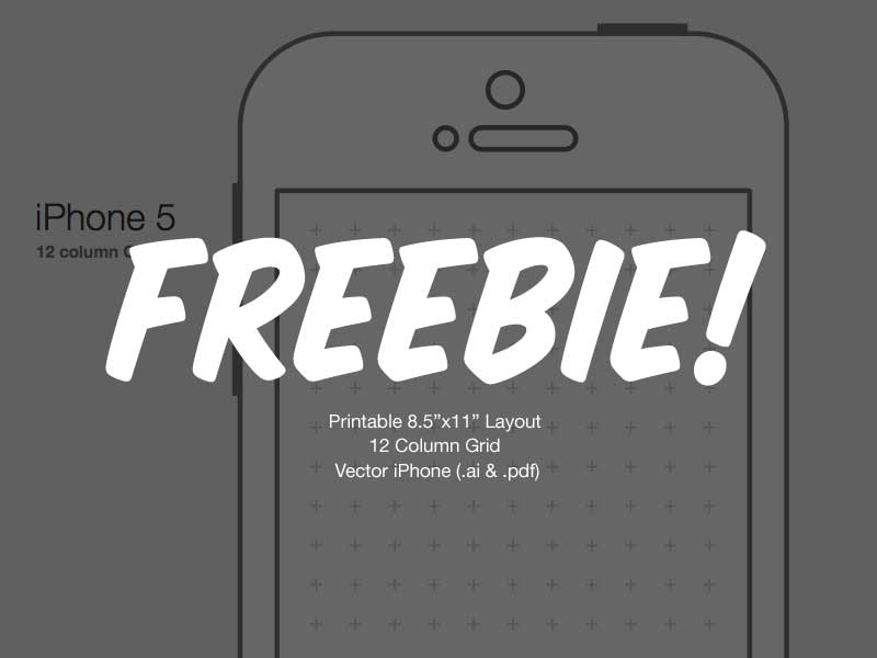 Printable Vector iPhone Freebie vector iphone free freebie .ai .pdf ui