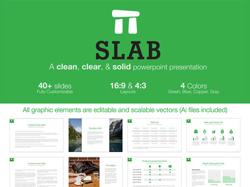 slab powerpoint template by greg shuster dribbble dribbble