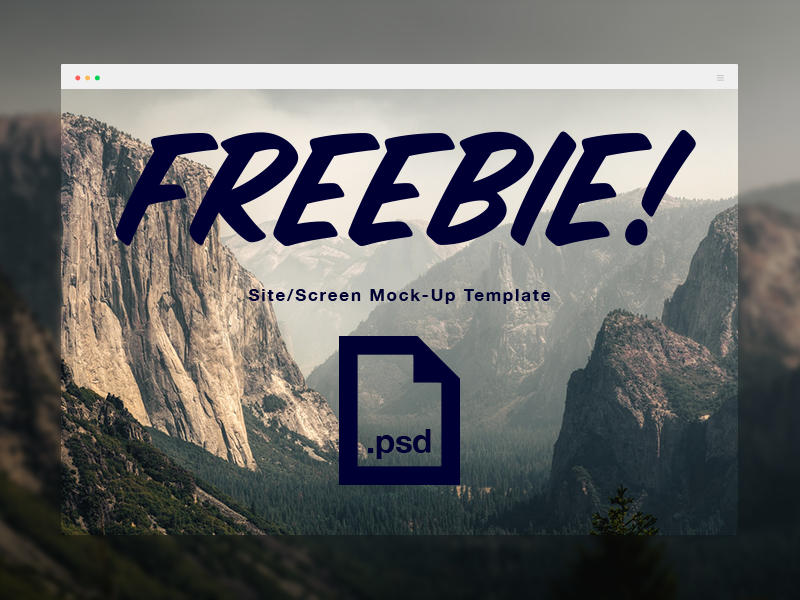 Screen Display Mockup template freebie free psd mockup screeen mock website web portfolio