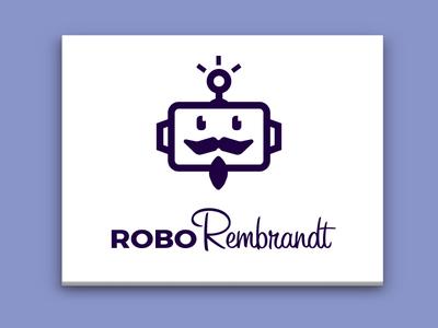 Robo Rembrandt Logo canvas logo robot