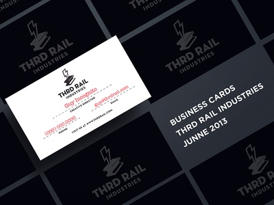 THRD RAIL business cards